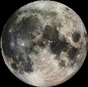 image of full moon in outerspace