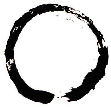 image of circle drawn with brush