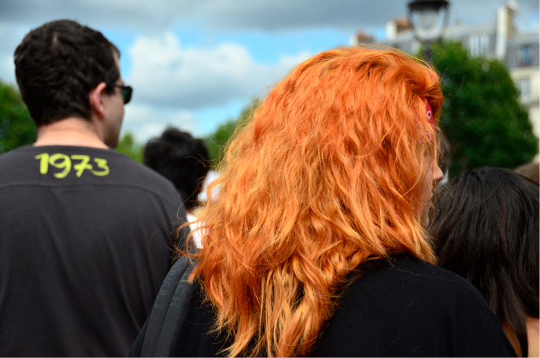 image of brigh orange hair