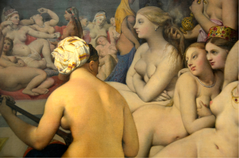 image of painting of women lounging in the nude