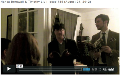image of Hansa Bergwall & Timothy Liu video